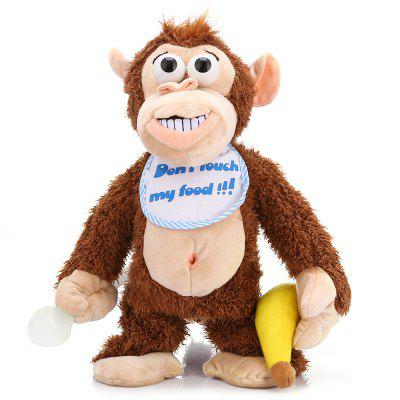 Don\'t Touch My Food Raging Monkey Plush Toy
