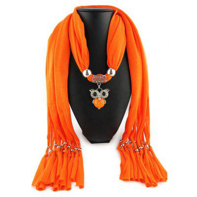 Small Owl Pendant Keep Warm Scarf for Women