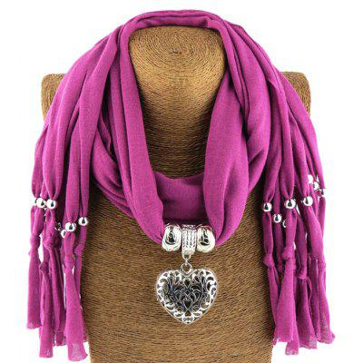 Hollow-out Heart Pendant Scarf for Women