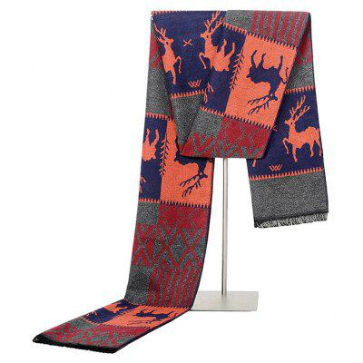 Fawn Pattern Keep Warm Scarf para hombres