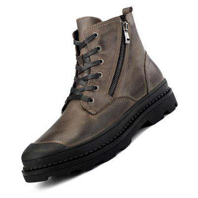 Male Modern Warmest Brush-off Side-zipper High-top BootsMens Boots<br>Male Modern Warmest Brush-off Side-zipper High-top Boots<br><br>Closure Type: Zip, Lace-Up<br>Contents: 1 x Pair of Shoes, 1 x Box, 1 x Dustproof Paper<br>Decoration: Split Joint<br>Function: Slip Resistant<br>Lining Material: Velvet<br>Materials: Velvet, Leather, Rubber<br>Occasion: Tea Party, Party, Outdoor Clothing, Casual, Daily, Dress, Holiday, Office, Shopping<br>Outsole Material: Rubber<br>Package Size ( L x W x H ): 33.00 x 22.00 x 11.00 cm / 12.99 x 8.66 x 4.33 inches<br>Package Weights: 1.15kg<br>Seasons: Autumn,Winter<br>Style: Modern, Leisure, Fashion, Comfortable, Casual, Business<br>Toe Shape: Round Toe<br>Type: Boots<br>Upper Material: Leather