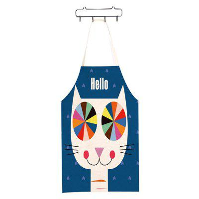 Abstract Style Apron Creative Cat Printed Kitchen Tool