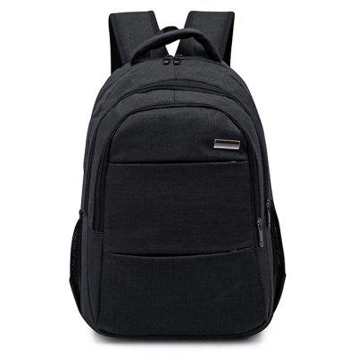 Buy BLACK Men Leisure Solid Color Nylon Laptop Backpack for $14.28 in GearBest store