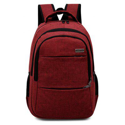 Buy RED Men Leisure Solid Color Nylon Laptop Backpack for $23.32 in GearBest store
