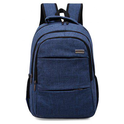 Buy BLUE Men Leisure Solid Color Nylon Laptop Backpack for $23.32 in GearBest store