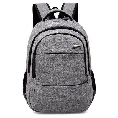 Buy GRAY Men Leisure Solid Color Nylon Laptop Backpack for $23.32 in GearBest store