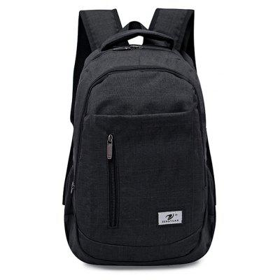 Buy BLACK Men Stylish Nylon Laptop Backpack for $20.37 in GearBest store