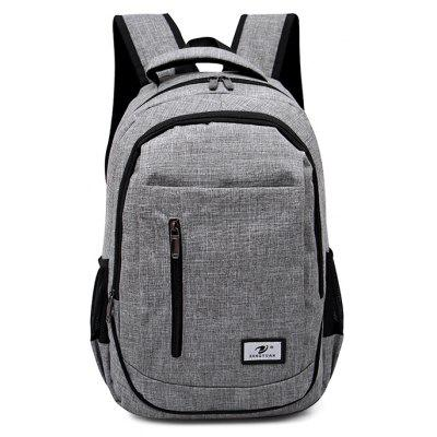 Buy GRAY Men Stylish Nylon Laptop Backpack for $20.37 in GearBest store