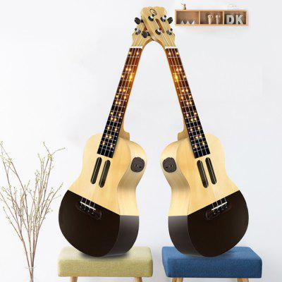 APP LED Bluetooth USB Smart Ukulele Gift for Beginners 1pc - COLORMIX