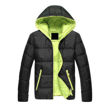 Men Brief Fitted Hooded ParkaMens Jackets &amp; Coats<br>Men Brief Fitted Hooded Parka<br><br>Closure Type: Zipper<br>Clothes Type: Parkas<br>Collar: Hooded<br>Embellishment: Stitching<br>Materials: Acrylic, Spandex, Nylon<br>Occasion: Work, Going Out, Daily Use, Holiday<br>Package Content: 1 x Parka<br>Package Dimension: 35.00 x 25.00 x 2.00 cm / 13.78 x 9.84 x 0.79 inches<br>Package weight: 0.5200 kg<br>Pattern Type: Solid<br>Product weight: 0.5000 kg<br>Seasons: Winter<br>Shirt Length: Regular<br>Sleeve Length: Long Sleeves<br>Style: Casual<br>Thickness: Thickening