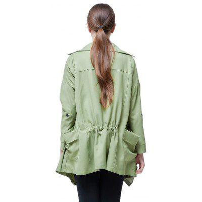 Casual Oversize Irregular Solid JacketJackets &amp; Coats<br>Casual Oversize Irregular Solid Jacket<br><br>Materials: Polyester<br>Package Content: 1 x Jacket<br>Package Dimension: 35.00 x 28.00 x 2.00 cm / 13.78 x 11.02 x 0.79 inches<br>Package weight: 0.3000 kg<br>Product weight: 0.2700 kg<br>Type: Jacket