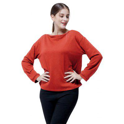 Loose Solid Color Boat Neck SweatshirtSweatshirts &amp; Hoodies<br>Loose Solid Color Boat Neck Sweatshirt<br><br>Clothes Type: Sweatshirt<br>Material: Cotton, Polyester<br>Occasion: Going Out, Daily Use, Casual<br>Package Contents: 1 x Sweatshirt<br>Package size: 35.00 x 28.00 x 2.00 cm / 13.78 x 11.02 x 0.79 inches<br>Package weight: 0.3300 kg<br>Product weight: 0.3000 kg<br>Style: Casual