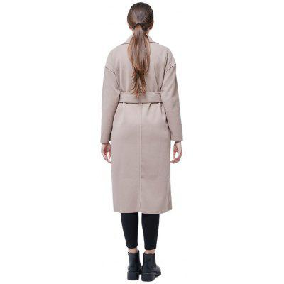 Solid Color Loose Long Overcoat with BeltJackets &amp; Coats<br>Solid Color Loose Long Overcoat with Belt<br><br>Materials: Acrylic, Polyester<br>Package Content: 1 x Overcoat<br>Package Dimension: 52.00 x 40.00 x 4.00 cm / 20.47 x 15.75 x 1.57 inches<br>Package weight: 0.8600 kg<br>Product weight: 0.8500 kg<br>Type: Coat