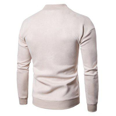Mock Neck Solid Color SweatshirtMens Hoodies &amp; Sweatshirts<br>Mock Neck Solid Color Sweatshirt<br><br>Clothes Type: Sweatshirt<br>Material: Cotton, Polyester<br>Occasion: Going Out, Daily Use, Casual<br>Package Contents: 1 x Sweatshirt<br>Package size: 40.00 x 30.00 x 4.00 cm / 15.75 x 11.81 x 1.57 inches<br>Package weight: 0.5000 kg<br>Pattern: Solid Color<br>Product weight: 0.4800 kg