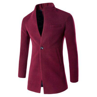 Fashion Stand Collar Wool Blazer Jacket