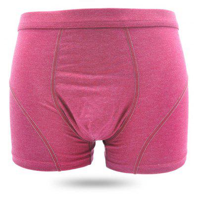 Male Pure Color Antibiosis Breathable Boxers