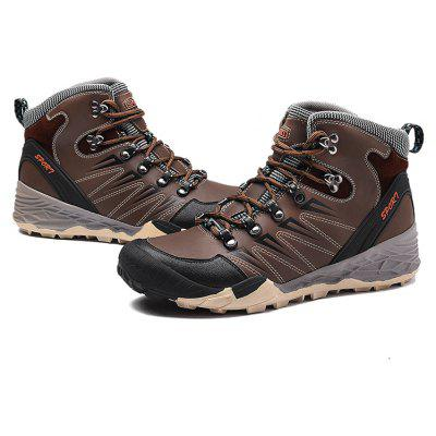 Buy COFFEE 43 Male Versatile Outdoor Warmest Ankle-top Athletic Shoes for $56.15 in GearBest store