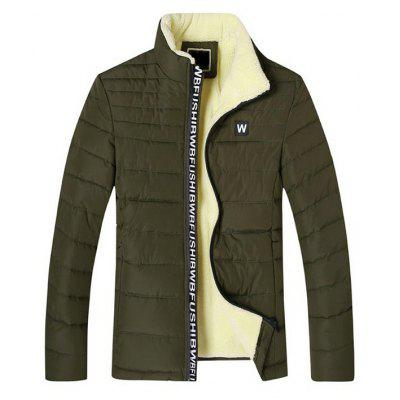 Buy ARMY GREEN L Simple Warm Padded Winter Jacket for $39.99 in GearBest store