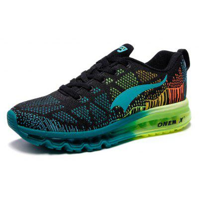 Onemix Knitting Lightweight Cushion Running ShoesAthletic Shoes<br>Onemix Knitting Lightweight Cushion Running Shoes<br><br>Brand: ONEMIX<br>Closure Type: Lace-Up<br>Contents: 1 x Pair of Shoes<br>Materials: Nylon, Rubber, Spandex, TPU, MD<br>Occasion: Sports, Running<br>Package Size ( L x W x H ): 33.00 x 21.00 x 12.00 cm / 12.99 x 8.27 x 4.72 inches<br>Package Weights: 1.1150kg<br>Product Weights: 1.1000kg<br>Seasons: Autumn,Spring<br>Style: Fashion, Comfortable<br>Toe Shape: Round Toe<br>Type: Sports Shoes