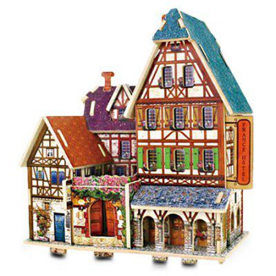Creative DIY 3D French Style Wooden Building Model Set