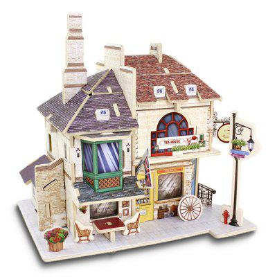 Creative DIY 3D British Style Wooden House Model Set