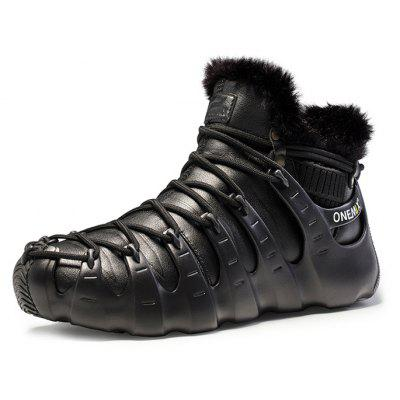 Buy FULL BLACK 46 ONEMIX Couple Warmest Non-slip Snow Boots 3 Wear for $58.99 in GearBest store