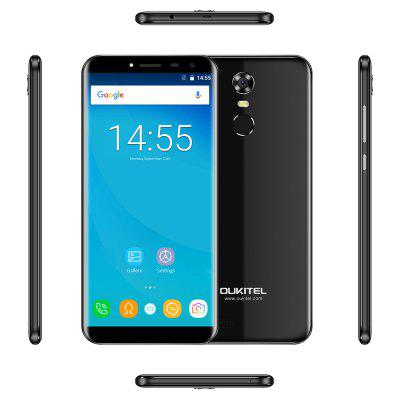 OUKITEL C8 4G SmartphoneCell phones<br>OUKITEL C8 4G Smartphone<br><br>2G: GSM 1800MHz,GSM 1900MHz,GSM 850MHz,GSM 900MHz<br>3G: WCDMA B1 2100MHz,WCDMA B8 900MHz<br>4G LTE: FDD B1 2100MHz,FDD B20 800MHz,FDD B3 1800MHz,FDD B7 2600MHz,FDD B8 900MHz<br>Additional Features: Bluetooth, 3G, 4G, Alarm, Browser, Calculator, Calendar, WiFi, Camera, Fingerprint recognition, Fingerprint Unlocking, MP3, MP4<br>Back-camera: 8.0MP ( SW 13.0MP )<br>Battery Capacity (mAh): 3000mAh<br>Battery Type: Non-removable<br>Bluetooth Version: V4.0<br>Brand: OUKITEL<br>Camera type: Dual cameras (one front one back)<br>Cell Phone: 1<br>Cores: 1.3GHz, Quad Core<br>CPU: MTK6737<br>English Manual: 1<br>External Memory: TF card up to 32GB (not included)<br>Front camera: 2.0MP ( SW 5.0MP )<br>Google Play Store: Yes<br>I/O Interface: TF/Micro SD Card Slot, 1 x Micro SIM Card Slot, Micro USB Slot, Speaker, 3.5mm Audio Out Port, Micophone, 1 x Nano SIM Card Slot<br>Language: Afrikaans, Indonesian, Malay, Czech, Danish, Germany(German), Germany (Austria), English(United Kingdom), English(United States), Spanish(Espana), Spanish(Estados Unidos), Filipino, French, Croatian,<br>Music format: AAC, OGG, AMR, FLAC, MP3<br>Network type: FDD-LTE,GSM,WCDMA<br>OS: Android 7.0<br>Package size: 18.00 x 10.30 x 5.35 cm / 7.09 x 4.06 x 2.11 inches<br>Package weight: 0.3120 kg<br>Picture format: JPEG, JPG, GIF, PNG, BMP<br>Power Adapter: 1<br>Product size: 14.70 x 7.05 x 1.02 cm / 5.79 x 2.78 x 0.4 inches<br>Product weight: 0.1560 kg<br>RAM: 2GB RAM<br>ROM: 16GB<br>Screen resolution: 1280 x 640<br>Screen size: 5.5 inch<br>Screen type: Capacitive<br>Sensor: Accelerometer,Ambient Light Sensor,Gravity Sensor<br>Service Provider: Unlocked<br>Silicone Case: 1<br>SIM Card Slot: Dual Standby, Dual SIM<br>SIM Card Type: Micro SIM Card, Nano SIM Card<br>Type: 4G Smartphone<br>USB Cable: 1<br>Video format: FLV, 3GP, AVI, MKV, MP4<br>WIFI: 802.11b/g/n wireless internet<br>Wireless Connectivity: 4G, GPS, 3G, Bluetooth, WiFi, GSM
