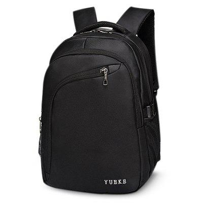 Buy BLACK Minimalist Durable Water-resistant Nylon Laptop Backpack for $28.37 in GearBest store