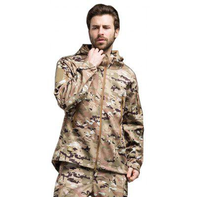 Autumn Winter Outdoor Wear-resisting Jacket with Hood