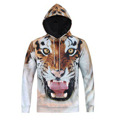Mr.1991INC Miss.GO Male Loose Animal Printing Hoodie