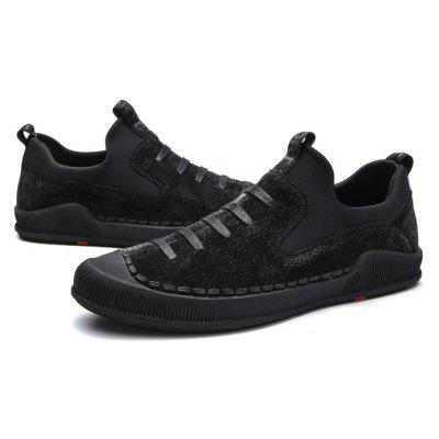 Male Ultrathin Soft Decorative Lace Casual Leather Shoes