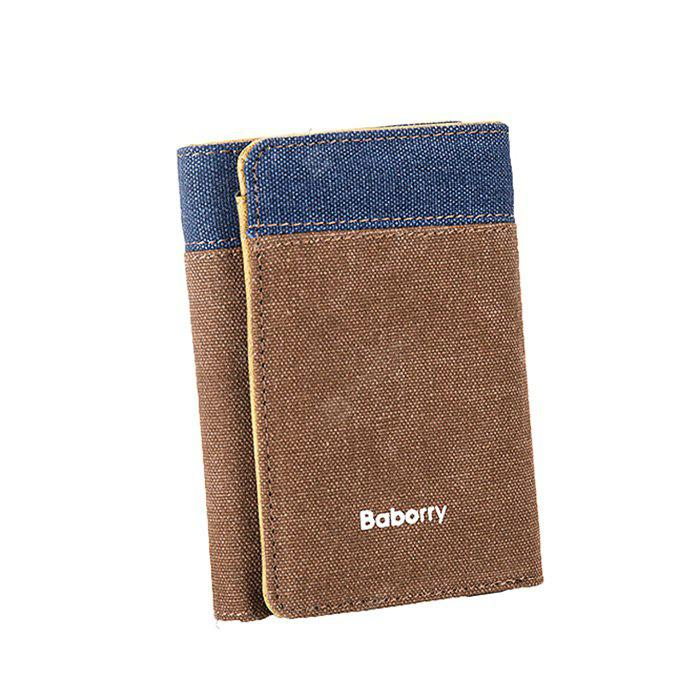 Baborry HYD1923 Portable Canvas Short Male Wallet