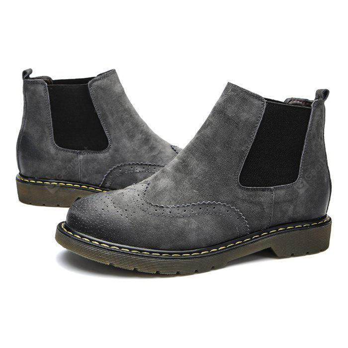 Male Stylish Chelsea Embossed Casual Boots