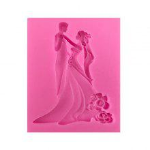 MCYH YC12 Romantic Bride + Bridegroom Silicone Cake Mold 1pc