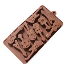 MCYH YC28 Creative Guitar Pattern Silicone Cake Mold 1pc