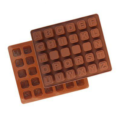 MCYH Letter Style Silicone Cake Chocolate Molds 1pc