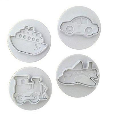 Infant Style Silicone Biscuit Chocolate Cake Molds 4PCS
