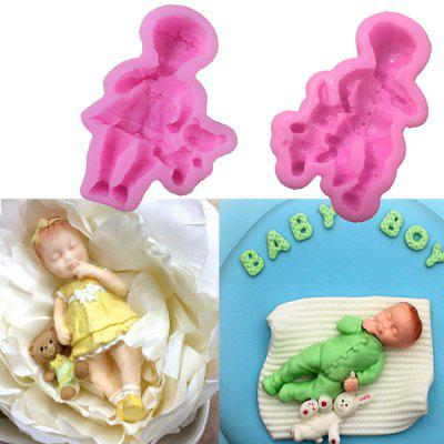 MCYH Infant Style Silicone Chocolate Cake Molds 1pc