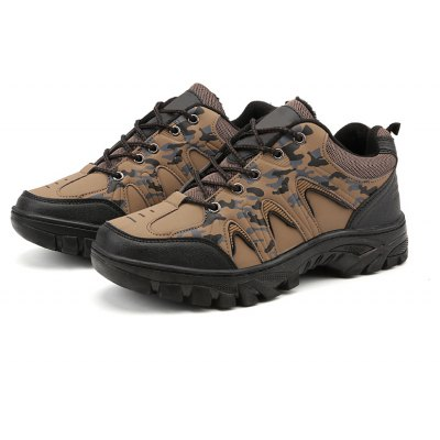 Male Versatile Hiking Warmth Camouflage Athletic Shoes BROWN