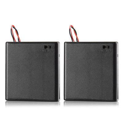4 x 1.5V AA Batterijhouder Case Box - 2PCS
