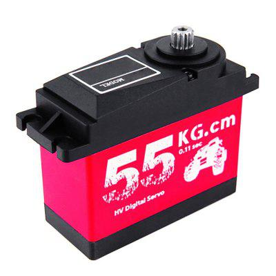 55KG Aluminum Shell Digital Servo with Metal Steering Gear