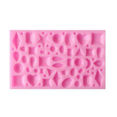MCYH YC16 Creative Lovely Silicone Jewels Star Cake Mold