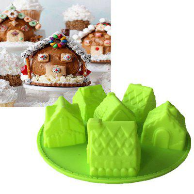 MCYH YC24 Creative Silicone House Pattern Cake Mold 1pc