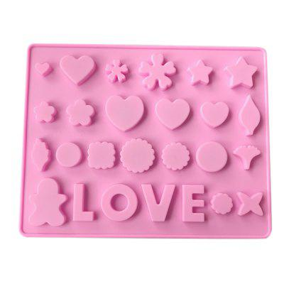 MCYH YC27 Sweet Love Heart Pattern Silicone Cake Mold 1pc