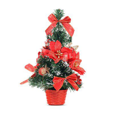 mini christmas tree with ornaments bonsai xmas decorations