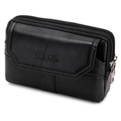 YUANFANVIP Leather Cellphone Waist Bag