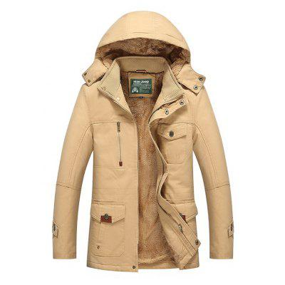 NIAN JEEP Fashion Pile-lined Hooded Jacket