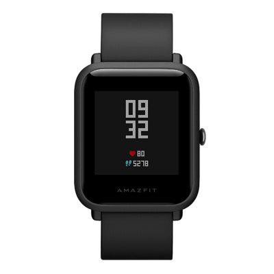 Xiaomi Huami AMAZFIT Bip Lite Version Smart WatchSmart Watches<br>Xiaomi Huami AMAZFIT Bip Lite Version Smart Watch<br><br>Alert type: Vibration<br>Band material: Silicone<br>Battery  Capacity: 190mAh<br>Bluetooth calling: Phone call reminder<br>Bluetooth Version: Bluetooth 4.0<br>Brand: Xiaomi<br>Case material: Polycarbonate<br>Charging Time: About 2.5hour<br>Compatability: Android 4.4 / iOS 8.0 and above systems<br>Compatible OS: Android, IOS<br>Health tracker: Heart rate monitor,Pedometer,Sedentary reminder,Sleep monitor<br>IP rating: IP68<br>Messaging: Message reminder<br>Operating mode: Press button<br>Other Function: GPS, Barometer, Alarm<br>Package Contents: 1 x Smart Watch, 1 x Charging Cable, 1 x English User Manual<br>Package size (L x W x H): 15.00 x 15.00 x 15.00 cm / 5.91 x 5.91 x 5.91 inches<br>Package weight: 0.1420 kg<br>People: Female table,Male table<br>Product size (L x W x H): 24.00 x 2.50 x 1.30 cm / 9.45 x 0.98 x 0.51 inches<br>Product weight: 0.0320 kg<br>Screen: Corning Gorilla Glass Screen<br>Screen resolution: 176 x 176<br>Screen size: 1.28 inch<br>Shape of the dial: Rectangle<br>Standby time: 45 days<br>Type of battery: Polymer lithium battery<br>Waterproof: Yes