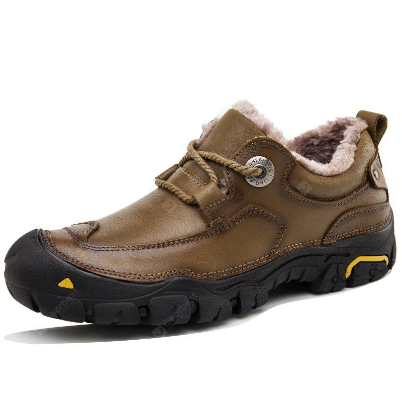 Male Warmest Soft Breathable Casual Cow Leather Shoes