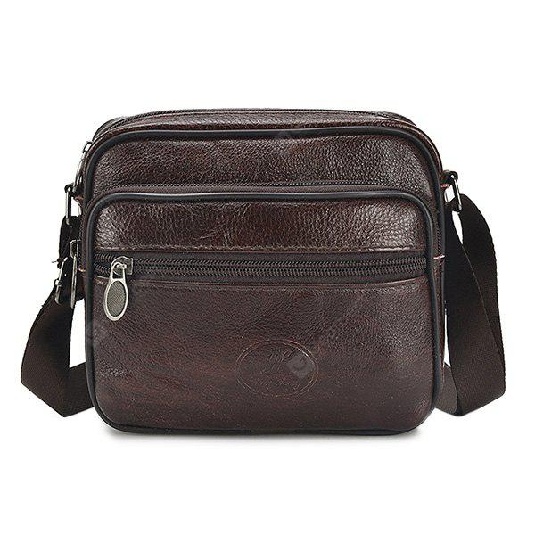 Male Leather Outdoor Crossbody Bag